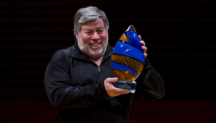Wozniak was recognized with a Lifetime Achievement Award from the HEMP organization last night in Kansas City. Photos by Rivas Media Photography.