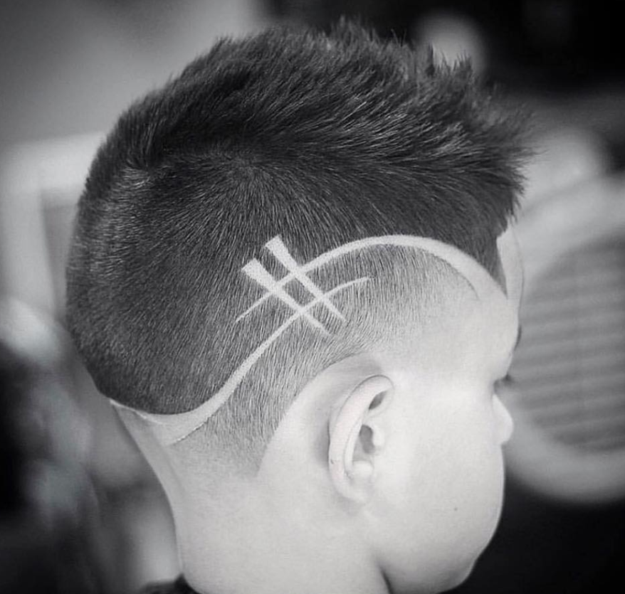 Picture of boy with cool haircut