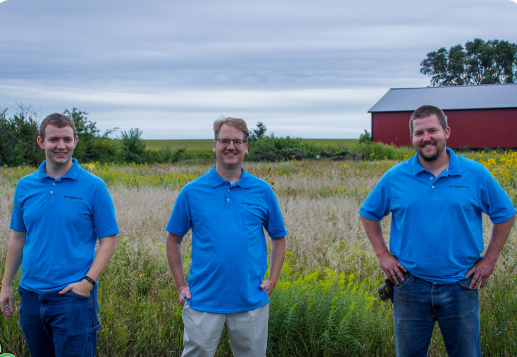 Jayson Ryner, at center, founded ReEnvision Ag. Photo courtesy ReEnvision Ag